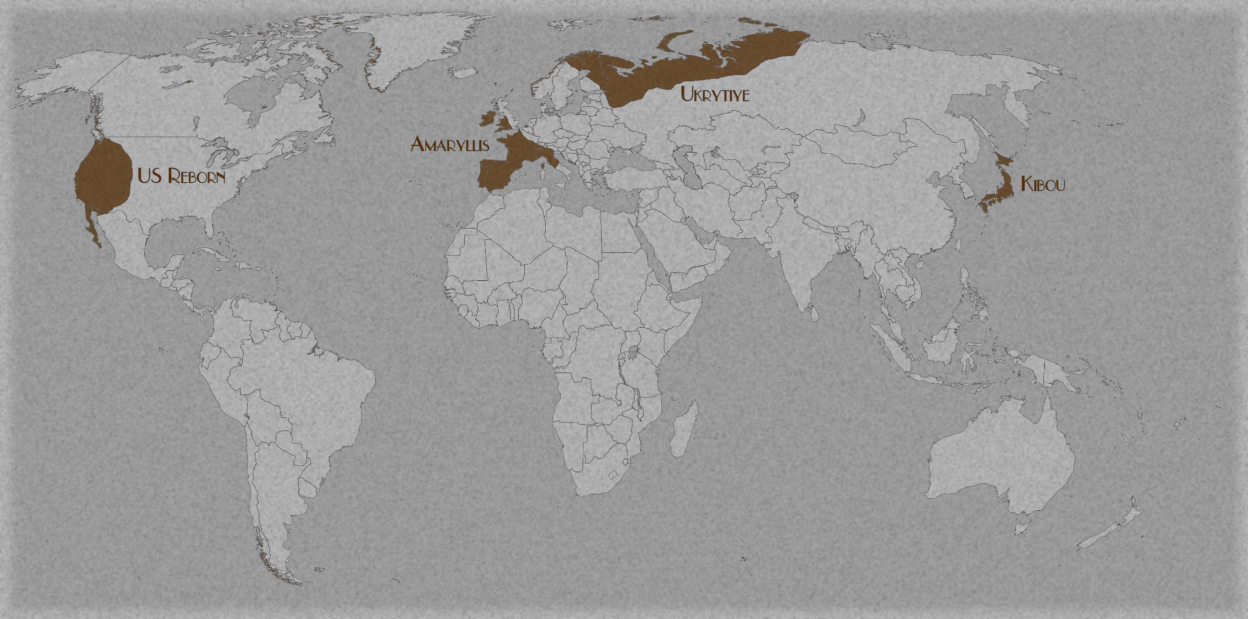 Carte du monde après l'Invasion