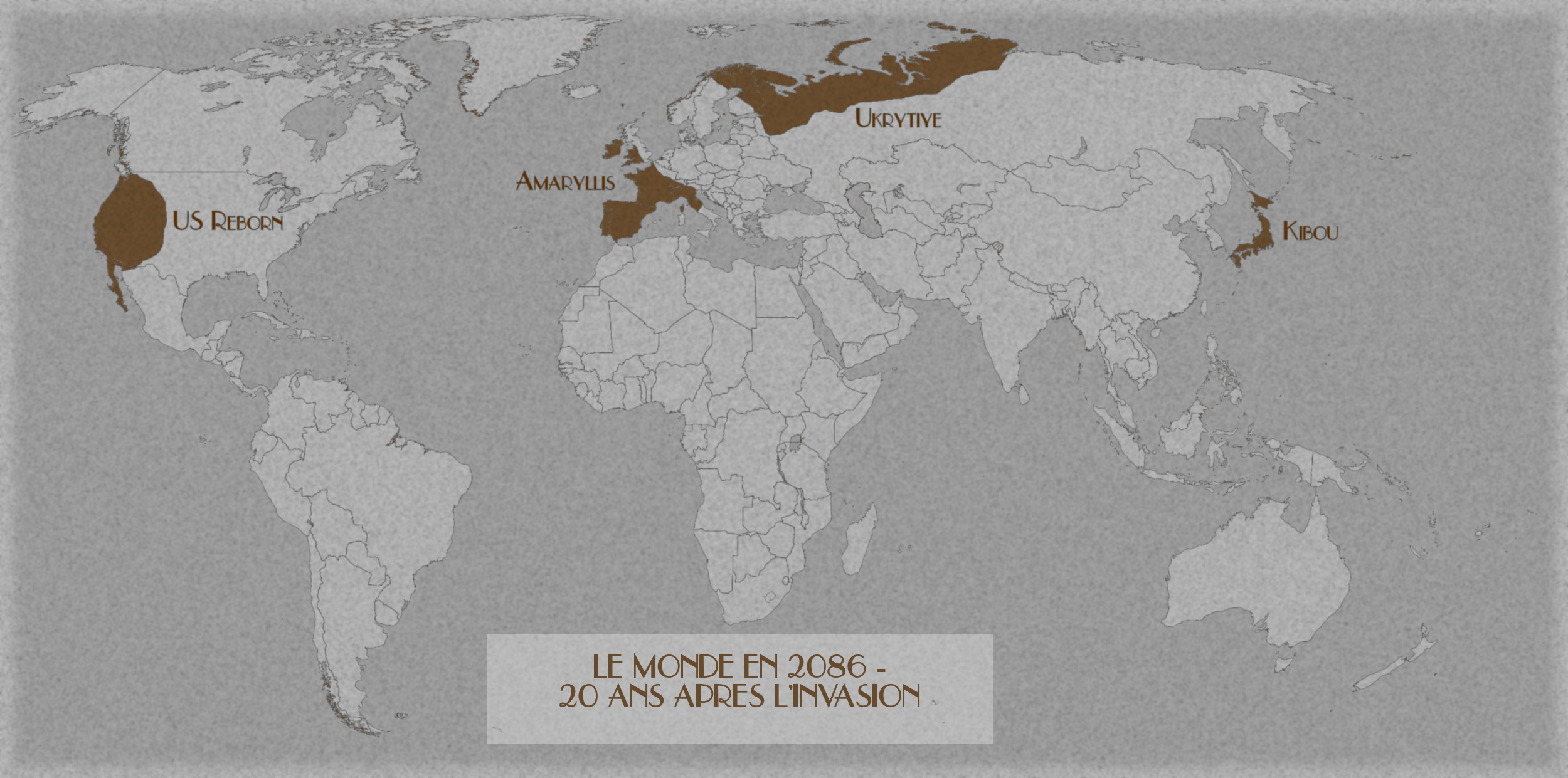Carte du monde 20 ans après l'Invasion